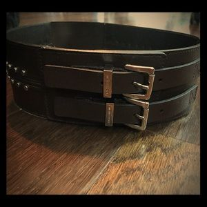 Michael Kors stretch leather belt NWT brown